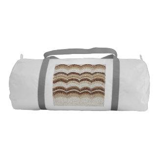 Beige Mosaic Gym Bag Gym Duffel Bag