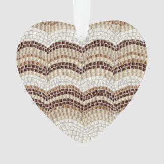 Beige Mosaic Heart Ornament