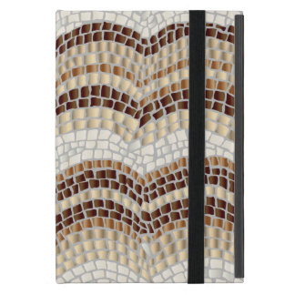 Beige Mosaic iPad Mini Case with No Kickstand