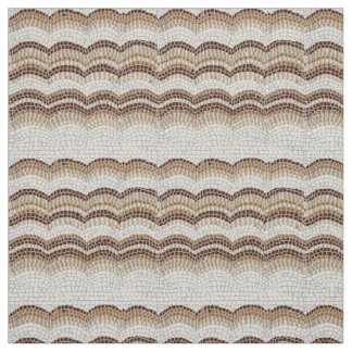 Beige Mosaic Ivory Linen Fabric