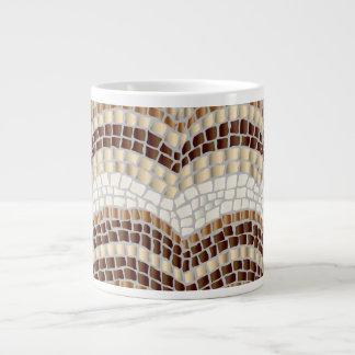 Beige Mosaic Jumbo Mug