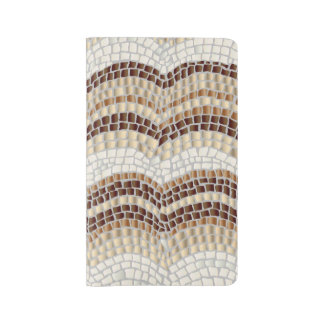 Beige Mosaic Large Notebook