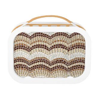 Beige Mosaic Lunch Box