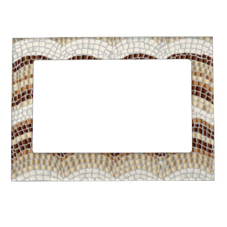 Beige Mosaic Magnetic Frame
