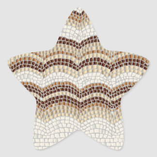 Beige Mosaic Matte Star Sticker