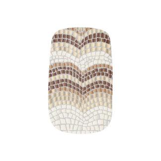 Beige Mosaic Minx Nail Art