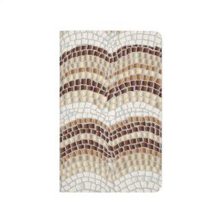 Beige Mosaic Pocket Journal