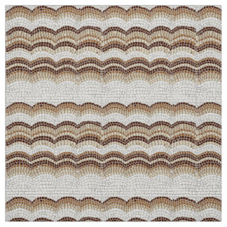 Beige Mosaic Polyester Weave Fabric