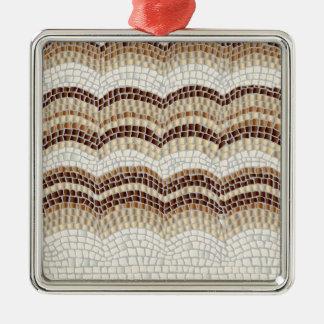 Beige Mosaic Premium Square Ornament