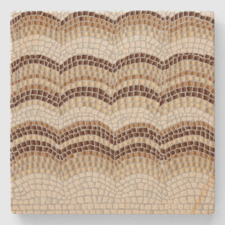 Beige Mosaic Sandstone Coaster