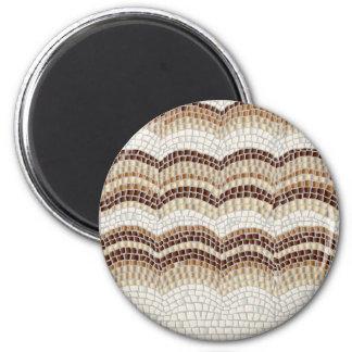 Beige Mosaic Standard Round Magnet