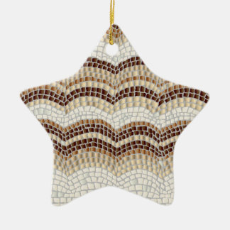 Beige Mosaic Star Ornament