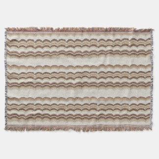 Beige Mosaic Throw Blanket