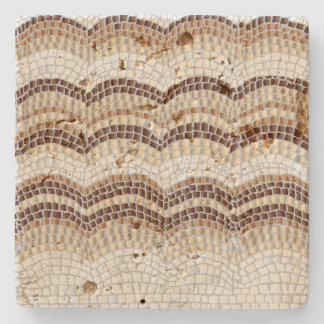 Beige Mosaic Travertine Stone Coaster