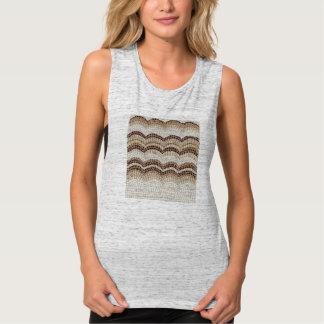 Beige Mosaic Women's Muscle T-Shirt