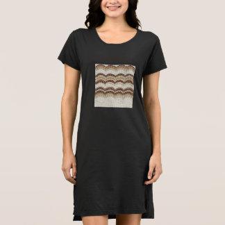 Beige Mosaic Women's T-Shirt Dress