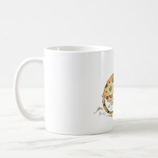 Beige mouse with patches coffee mug