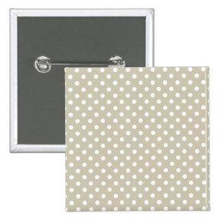 Beige Neutral Polka Dots Retro Vintage Preppy 15 Cm Square Badge