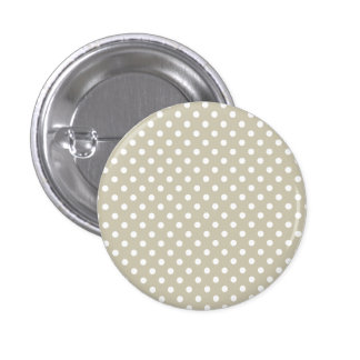Beige Neutral Polka Dots Retro Vintage Preppy 3 Cm Round Badge