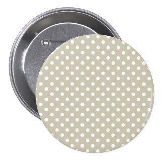 Beige Neutral Polka Dots Retro Vintage Preppy 7.5 Cm Round Badge