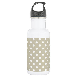 Beige Neutral Polka Dots Stylish  Modern Chic 532 Ml Water Bottle