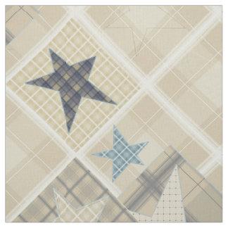 Beige patchwork fabric