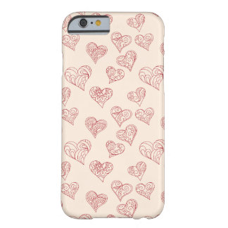 beige pattern with zen hearts barely there iPhone 6 case