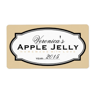 BEIGE | PERSONALIZED CANNING STICKER SHIPPING LABEL