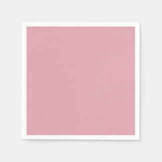 Beige Pink Dusty Antique Rose Color Background Paper Napkins