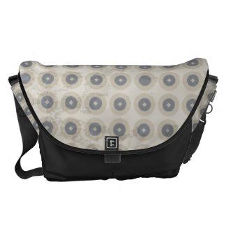 Beige Retro Circle Pattern Commuter Bags