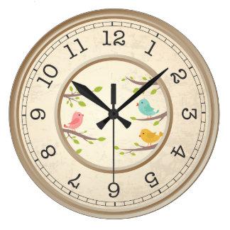 Beige Retro Round Clock