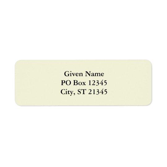 Beige Return Address Label