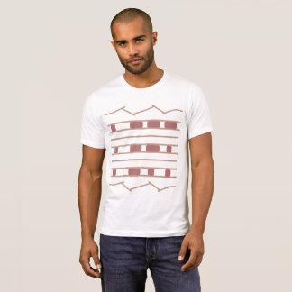 Beige & Rose JPL Mars Curiosity Rover Tire Print T-Shirt