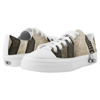 Beige Sci-fi Design Low Top Shoes