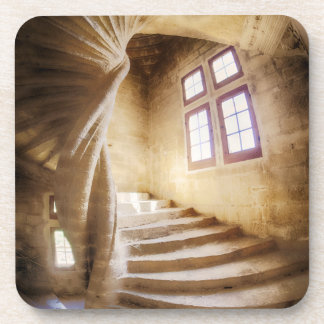 Beige spirl staircase, France Beverage Coaster