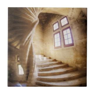 Beige spirl staircase, France Ceramic Tile