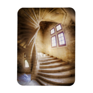 Beige spirl staircase, France Rectangular Photo Magnet