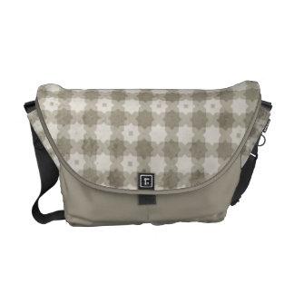 Beige Star Cross Pattern Messenger Bag