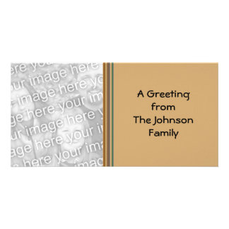 beige stripes greeting picture card