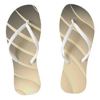 Beige stripes thongs