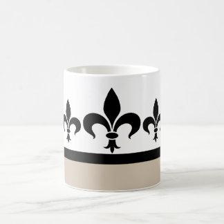 Beige Swanky Fleur De Lis Mug