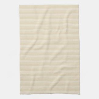 Beige Tan Color Stripe Pattern. Tea Towel