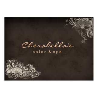 Beige Trendy Salon Spa Floral Appointment Card Business Card