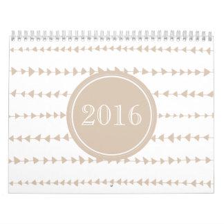 Beige White Aztec Arrows Year Wall Calendars