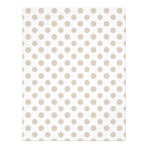 Beige White Polka Dots Pattern Personalized Flyer