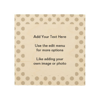 Beige White Polka Dots Pattern Wood Canvases