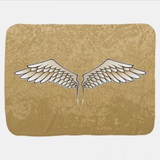 Beige wings baby blanket