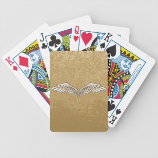 Beige wings bicycle playing cards
