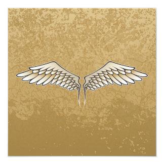 Beige wings card