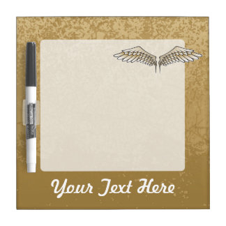Beige wings dry erase white board